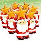 可爱温馨圣诞插画壁纸