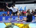 [高清组图]乒球精英赛表演赛 名将亮相妙趣横生