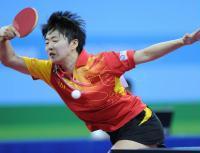 [高清组图]大运会乒乓球女子单打:饶静文夺冠