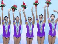 [高清组图]艺术体操——中国队夺得集体全能冠军