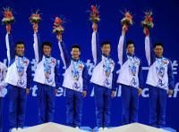 [高清组图]大运会健美操:中国队获得集体操冠军