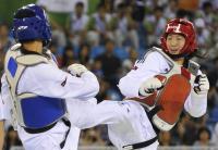 [高清组图]跆拳道女子73公斤以上级张永桐夺冠