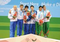 [高清组图]火亮/林跃荣获男子双人十米台冠军