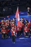 [高清组图]伦敦残奥会开幕式 中国香港代表团入场