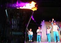 [高清组图]残奥会举行圣火点燃仪式和火炬传递