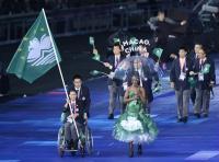 [高清组图]伦敦残奥会开幕式 中国澳门代表团入场