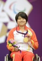 [高清组图]张翠平破世界纪录 为中国夺残奥首金