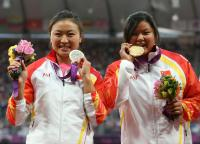 [高清组图]中国选手包揽女子铅球F42/44级冠亚军