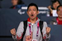[高清组图]轮椅击剑 刘德华为中国香港选手助威