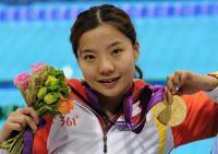 [高清组图]夏江波夺得女子50米自由泳S3级冠军