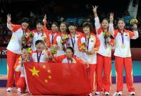 [高清组图]残奥会坐式女排 中国队夺冠