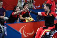 [高清组图]中国夺残奥乒乓球女子团体4-5级金牌