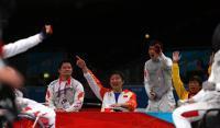 [高清组图]轮椅击剑-中国队男子花剑团体夺冠