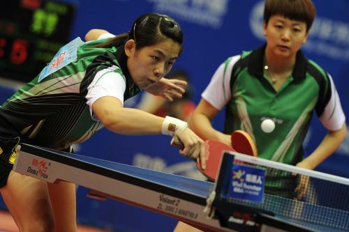 乒乓球全锦赛 曹臻 木子获女双冠军
