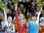 [高清组图]体操:女子自由体操颁奖仪式