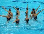 [高清组图]花样游泳集体技术自选 中国暂列第一