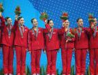 [高清组图]花样游泳:朝鲜队获集体项目季军